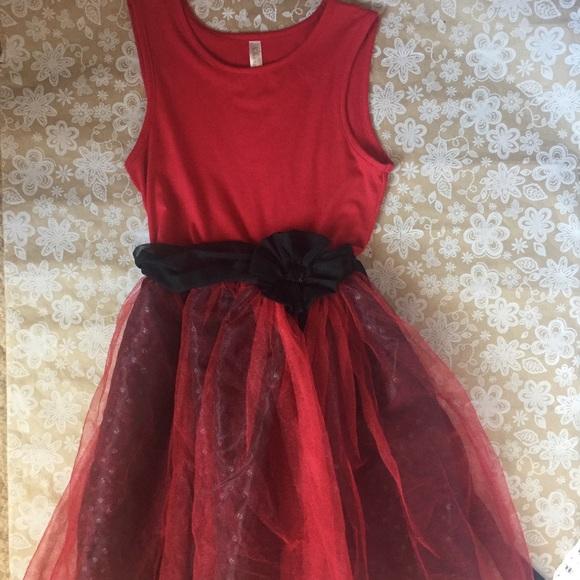 Cherokee Girls Red Tulle Dress